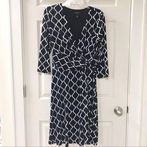 White House Black Market Wrap Style Dress